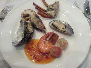seafood mentah