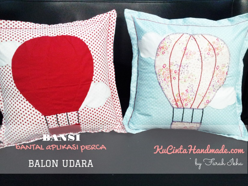 Bantal Aplikasi Perca (Balon Udara)
