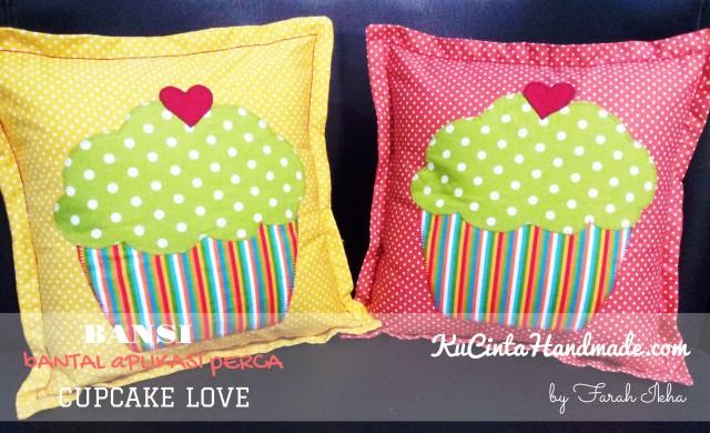 Bantal Aplikasi Perca (Cupcake Love)