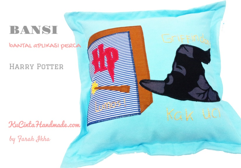 Bantal Aplikasi Perca (Harry Potter)