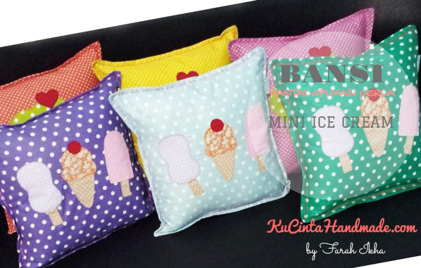 Bantal Aplikasi Perca (Mini Ice Cream)