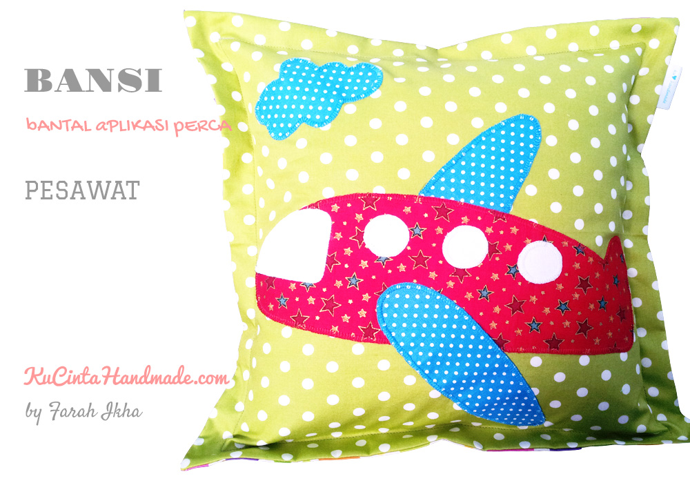 bantal aplikasi perca , sewing Leave a comment