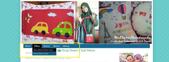 Cara membuat drop down menu pada blogspot